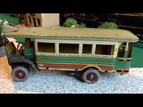 Vintage Tin Plate toys - old time Parisian motor buses