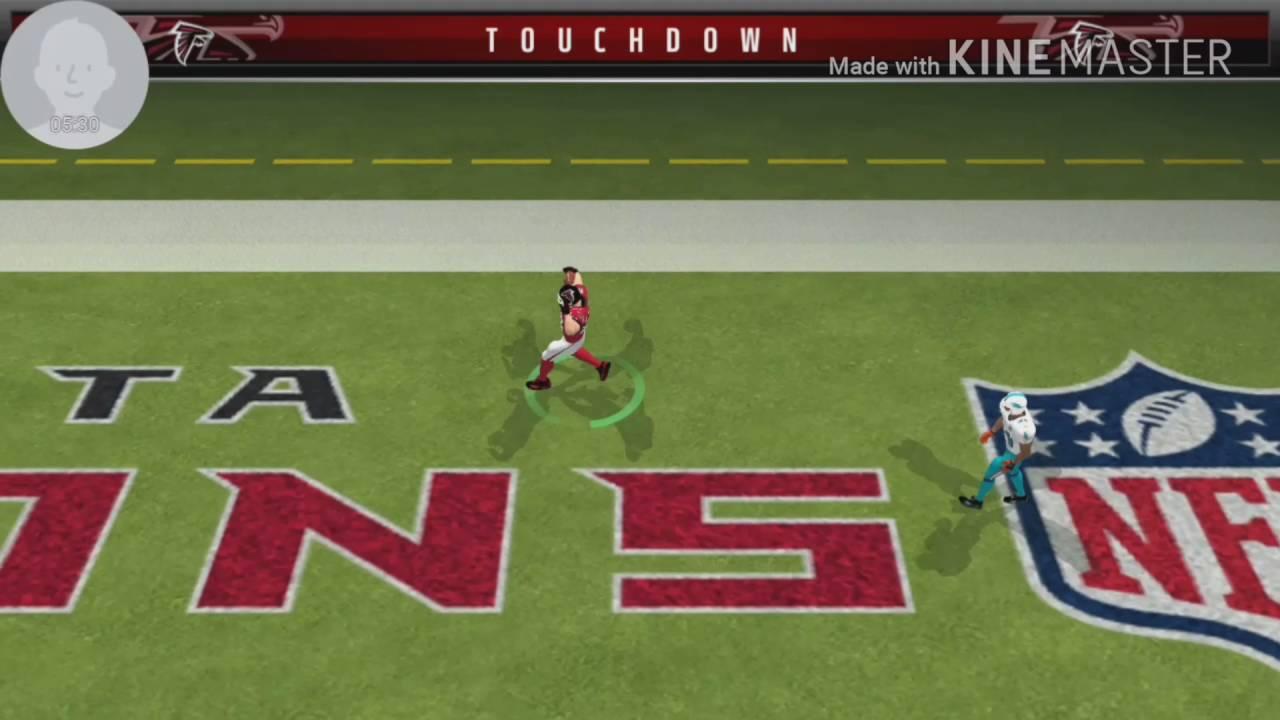 Madden Mobile Gameplay! Atlanta Falcons vs. Miami Dolphins! - YouTube