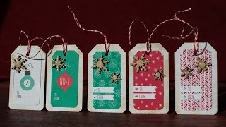 Easy Christmas Presents Tags - Using Pattern Paper - Sss Kit November  #3 2014
