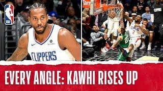 Every Angle: Kawhi Dunks It With AUTHORITY!
