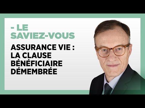 Assurance vie : la clause bénéficiaire démembrée