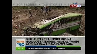 Dimple star transport bus na nahulog sa bangin, kinakalawang at 'di na raw ligtas pampasada