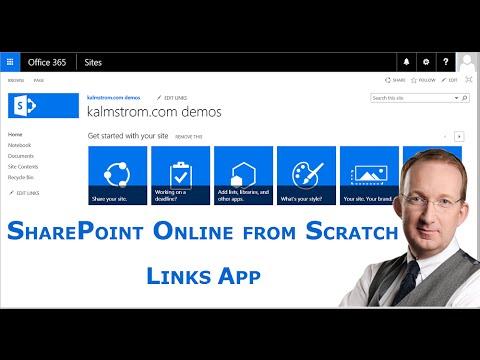 Sharepoint Add A Links App Youtube