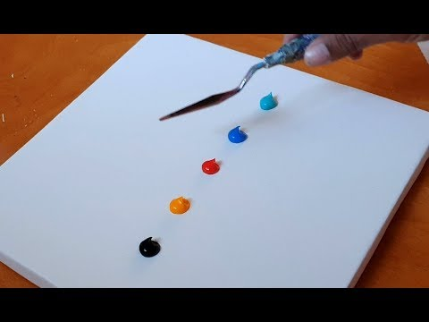 Very Easy Abstract Painting Demonstration For Beginners Satisfying Daily Art Therapy Day 101 Youtube