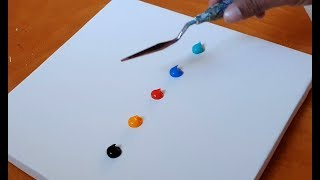 Very Easy Abstract Painting Demonstration / For Beginners / Satisfying / Daily Art Therapy/Day #101