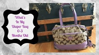 What's in my diaper bag | 0-3 months