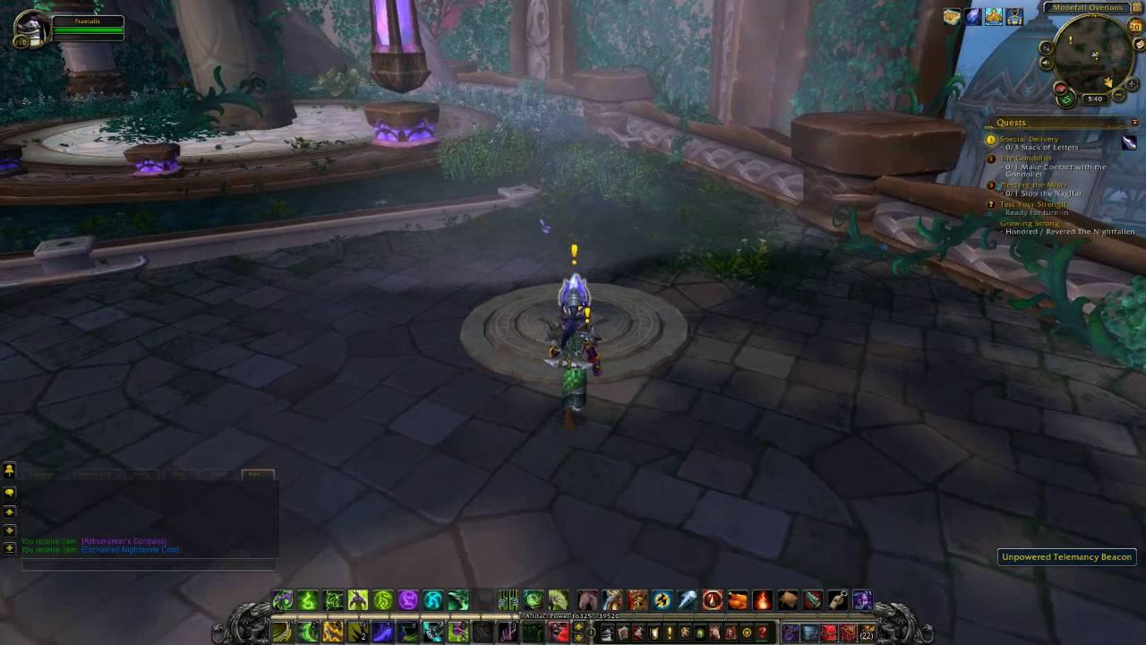 World Of Warcraft Moon Guard Teleporter Online Legion Quest Guide