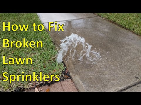 How to Fix Broken Sprinkler Heads