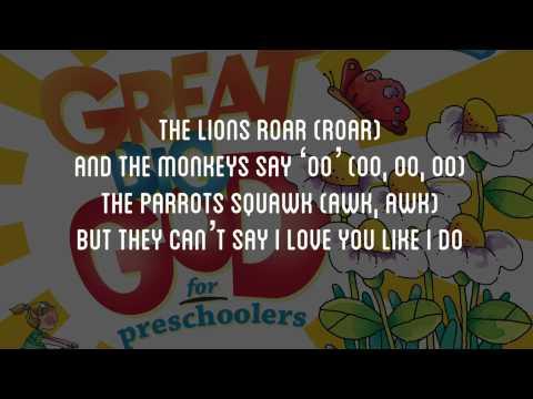 The Lion's Roar   Great Big God for PreSchoolers   Lyric Video Vineyard UK Kids Worship