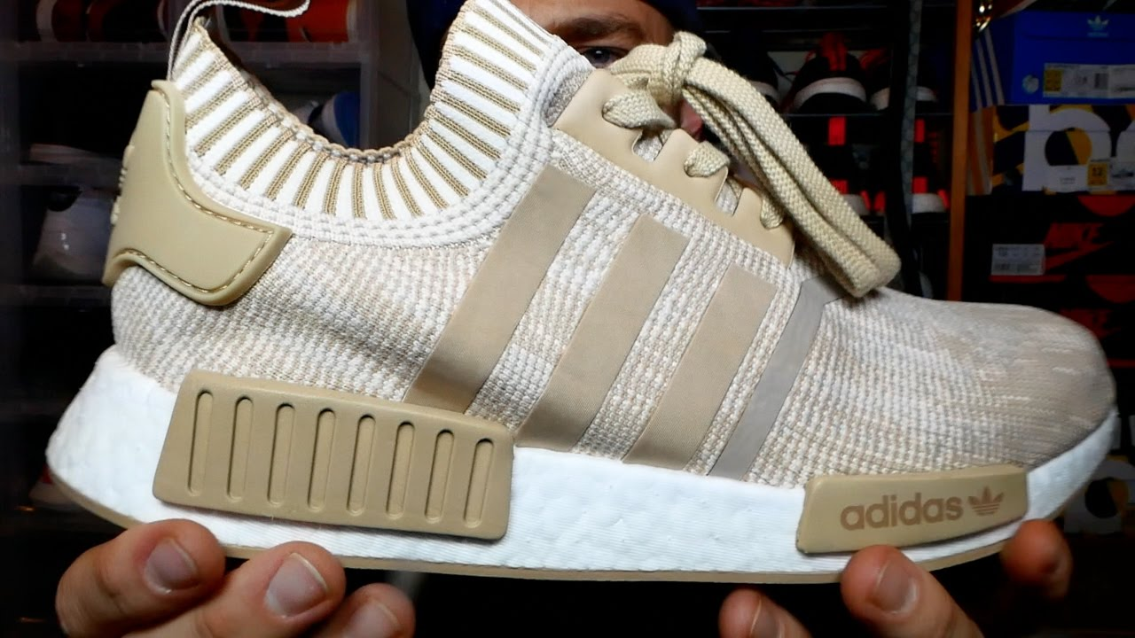 brand new cd987 cc709 Another pair of the NEW NMD R1's EARLY at Retail!! NMD R1 Linen Khaki  Review & On Feet!