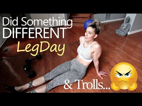 Leg day at HOME, Minimal Equipment Used & This Hater Has Gone Too Far vlog 119