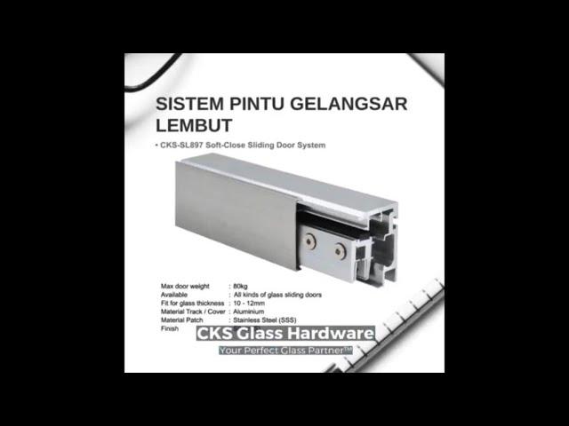 CKS-SL897 Sistem Pintu Gelangsar Lembut