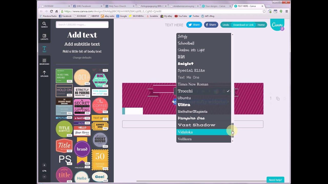Create New EBay Store Banner Using Canva YouTube - Create ebay store template
