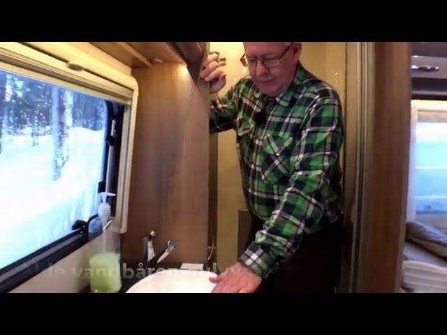 Dethleffs Beduin 560 RET Snow. Peer Neslein fra Campingferie.dk har testet vognen på en vintertur.