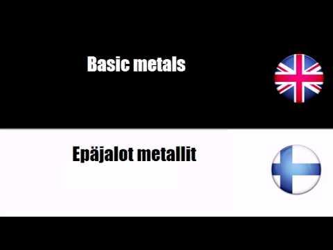LEARN FINNISH = Basic metals
