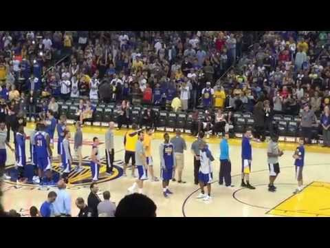 Golden State Warriors 2014-2015 Open Practice Player Introductions
