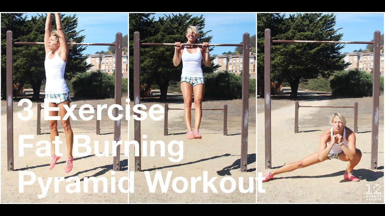 3 Exercise Fat Burning Pyramid Workout - 12 Minute Athlete