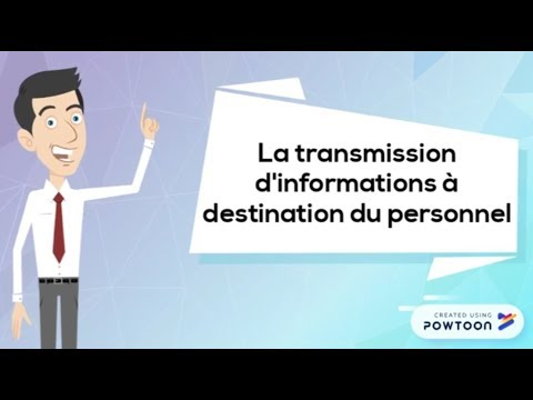La transmission d'informations au personnel