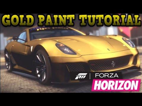 forza horizon gold paintjob tutorial youtube