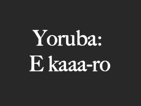 Learn yoruba for free