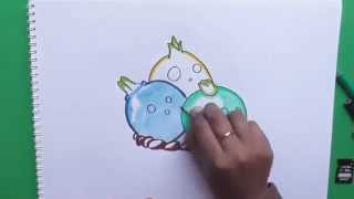 Dibujar y colorear a Bulbo de Bolera (Plantas vs Zombies 2) - Draw and color a bulb bowling