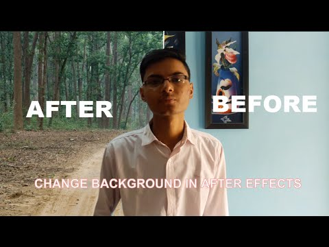 how to change background of a video in after effects by masking - tutorial thumbnail