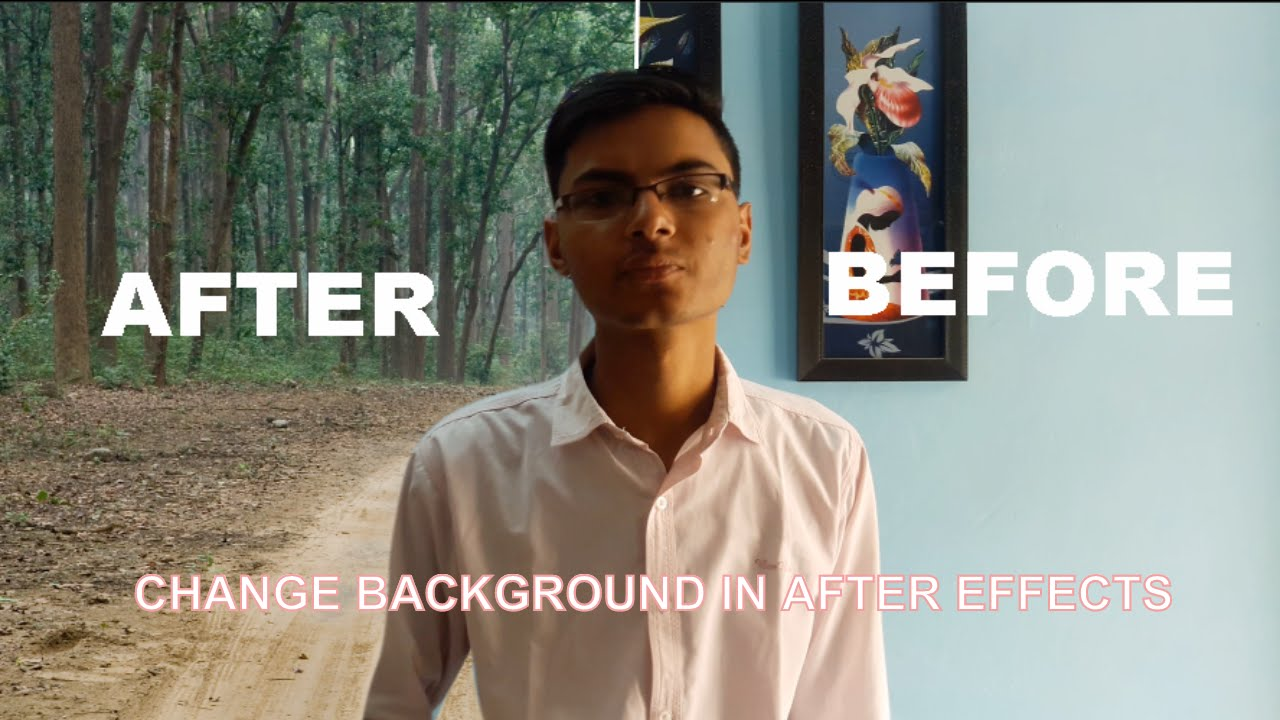 how to change background of a video in after effects by masking tutorial youtube