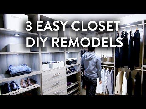 Easy Closet Remodels DIY | Walk In & Reach In