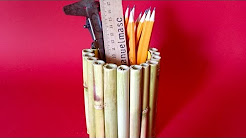 How To Make a Stylish Free Bamboo Pen Holder - DIY Crafts Tutorial - Guidecentral