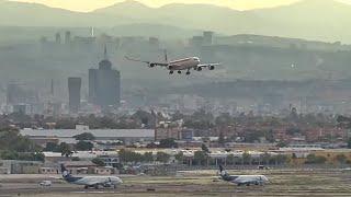 Torre de Control Aeropuerto de México - Aviones Pesados al Atardecer Ciudad de México