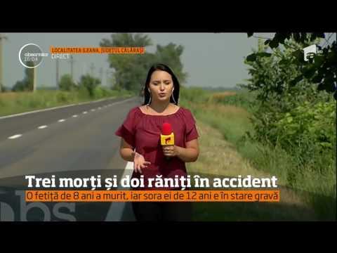 Accident rutier grav în Călăraşi! Doi bărbaţi şi o fetiţă de opt ani au murit pe loc