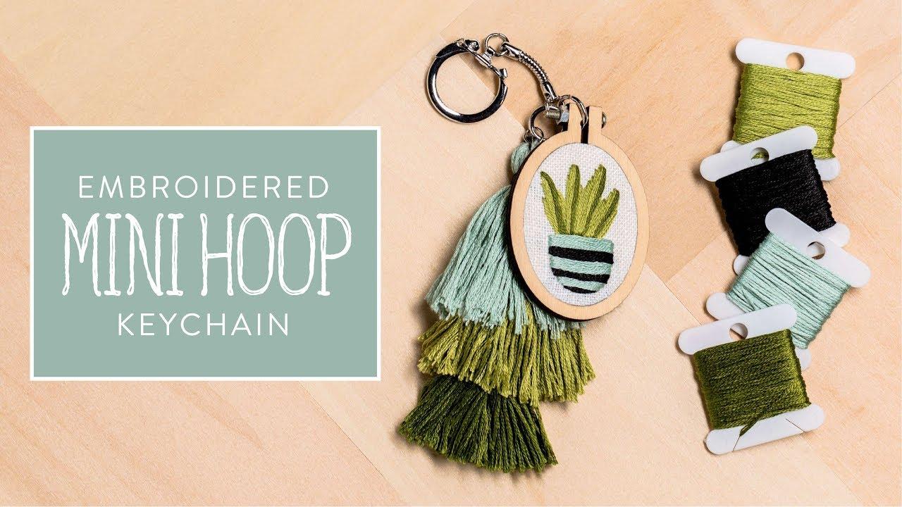 Embroidered Mini Hoop Keychain - Yarn & Needle Arts | Hobby