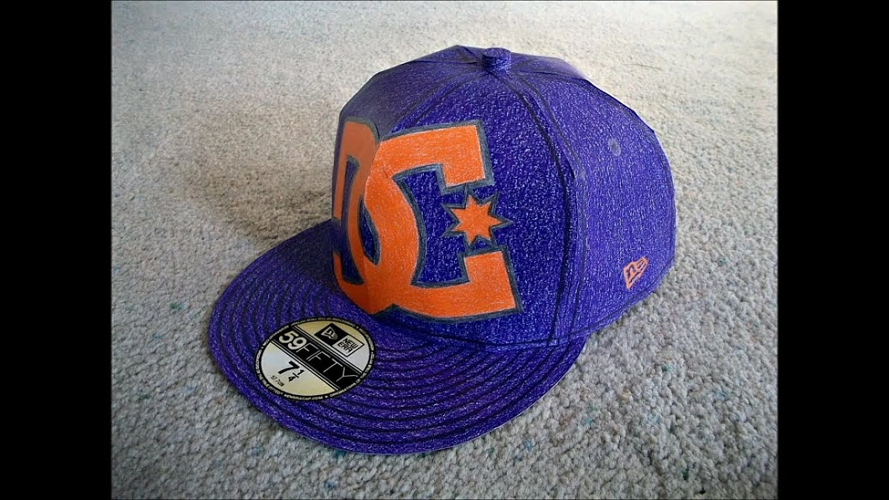 Papercraft Paper Model of a Purple DC New Era Hat