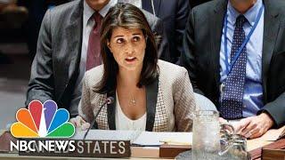Ambassador Nikki Haley Calls On Russia To Release Seized Ukrainian Ships And Crew | NBC News