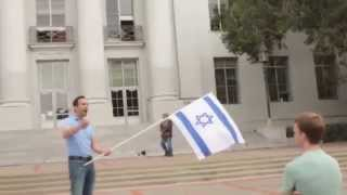 אוניברסיטת ברקלי דגל דאעש ודגל ישראל Berkeley's campus - ISIS flag and Israel flag