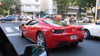 Ferrari 458 Italia En Buenos Aires, Argentina. (El Audio Satura)