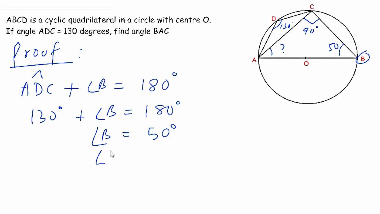 Class 10 ICSE Geometry Circle problem - find the missing angle