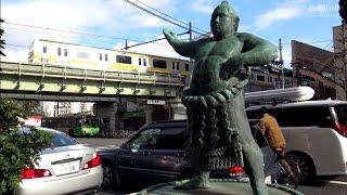 【東京散歩】 両国橋より国技館周辺 (31-Dec-2015) TOKYO SAMPO Ryōgoku