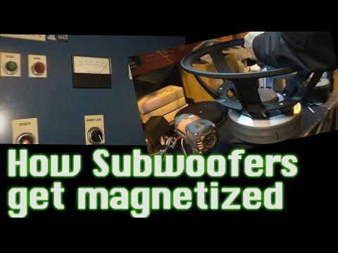 How Subwoofers Get Magnetized -  600v DC ZAP!