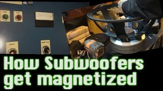 How Subwoofers Get Magnetized -  600v DC ZAP!