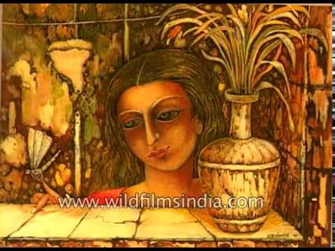 An exhibition of tempera paintings at Art Today Gallery in Delhi