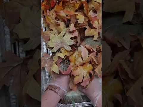 Easy DIY - muted faux fall foliage