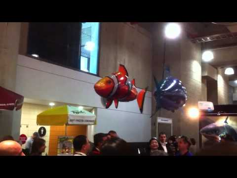 Helium Remote Controlled Fish Really Swim Through The Air