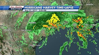 TIME-LAPSE: Hurricane Harvey's destructive path through Texas