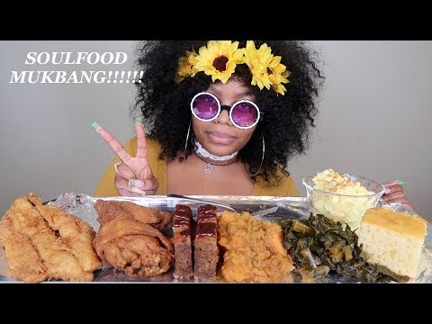 SOUL FOOD MUKBANG! FRIED FISH, CHICKEN, COLLARD GREENS AND MORE!!!
