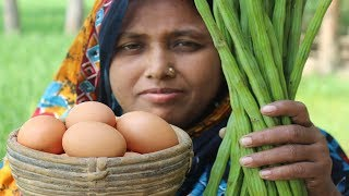 Village Food Healthy Drumstick Egg Recipe Farm Fresh Cooking Drumstick with Egg Curry In My Village