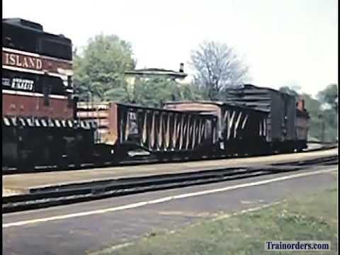 Classic Railroad Series 1037 - 1957 Footage CRI&P at Bureau Junction, IL