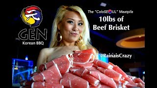 "10lbs of Brisket Eating Challenge | The ""ColoSEOUL"" MEATPILE 