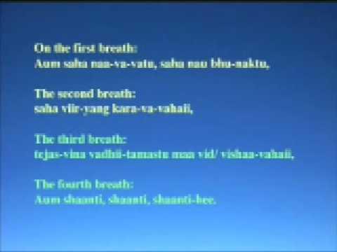 Shanti Mantra Youtube