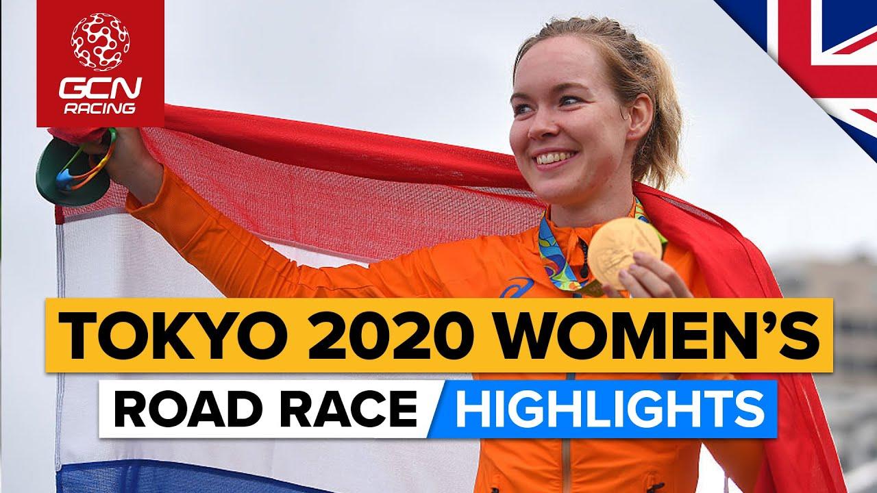 Tokyo 2020 Women's Road Race Highlights